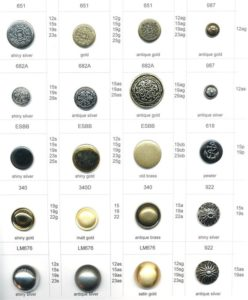 Metal Buttons and Imitation Metal Butons