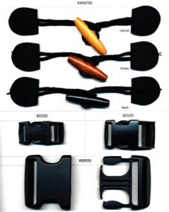 Spring Loaded Toggles & Cord Ends and Quick Release Buckles