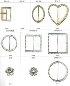 Diamonte and Pearl Buckles, Clasps and Buttons