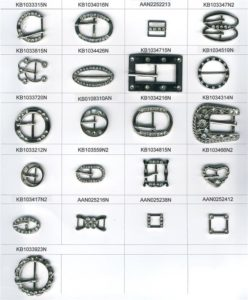 Metal buckles; Rings; D Rings and Objects