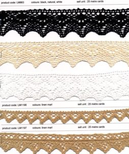 Crochet and Embroirdered Cotton and Linen Trims